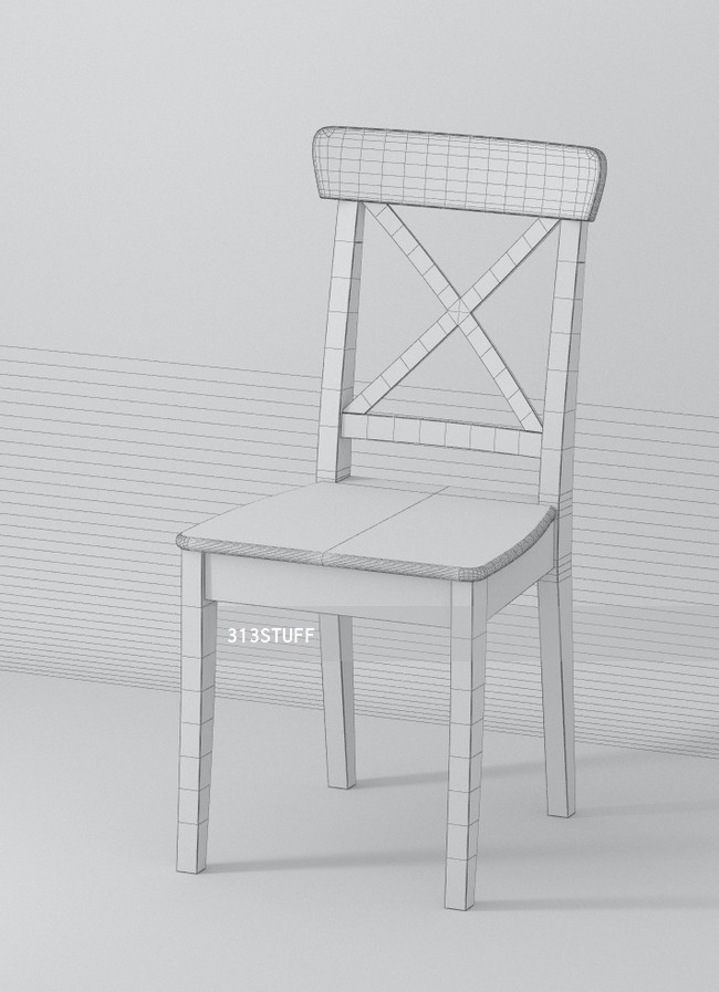 3d model Ikea Ingolf chair