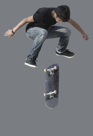skating teenager cutout
