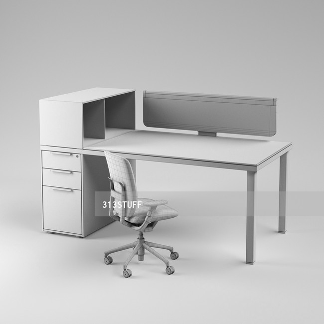 Vitra Oson Ad One working place Set